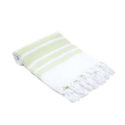 Ruthar Herringbone Turkish Beach Towel Color: Pistachio