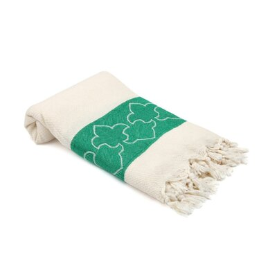 Skiba Turkish Beach Towel Color: Green