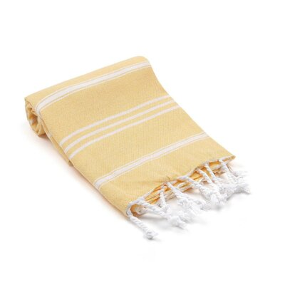 Marlow Turkish Beach Towel Color: Yellow