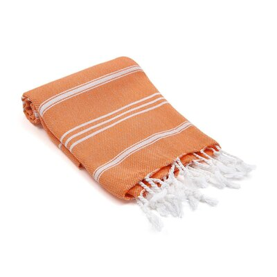 Turkish Hand Towel Color: Ornage