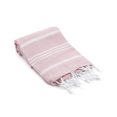 Marlow Turkish Beach Towel Color: Blush