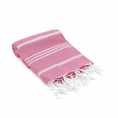 Marlow Turkish Beach Towel Color: Pink