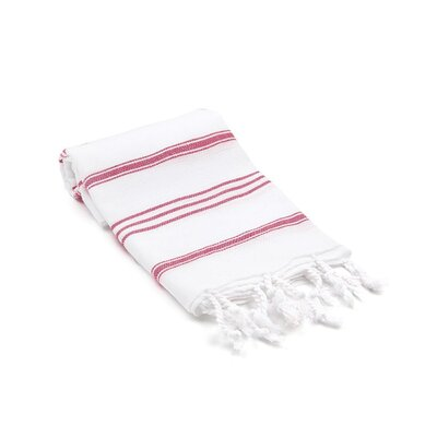 Turkish Hand Towel Color: Red