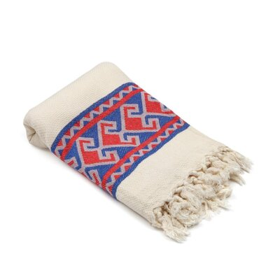 Feinstein Selamlique Turkish Beach Towel Color: Blue/Red