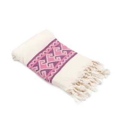 Feinstein Selamlique Turkish Beach Towel Color: Pink Purple/Ivory