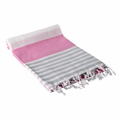 Turkish Hand Towel Color: Pink/Light Gray