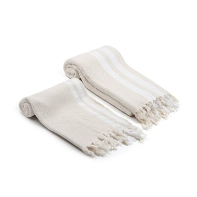 Swynford Natural Turkish 2 Piece Towel Set Color: Ivory