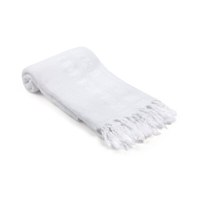 Swynford Neutral Turkish Beach Towel Color: White