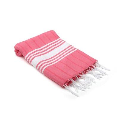 Yarger Pergamon Turkish Beach Towel Color: Pink