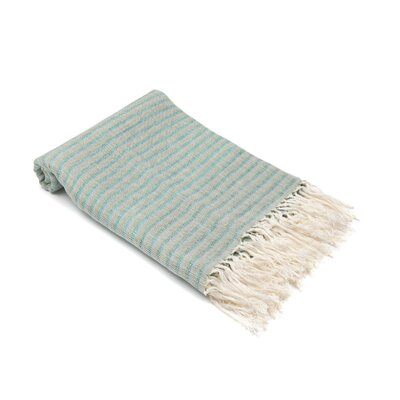 Arraignee Linen Peshtemal Beach Towel Color: Light Green/Dark Green