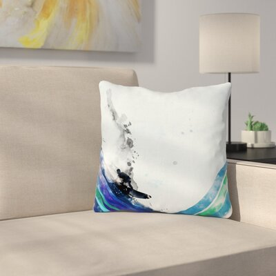 The Wave by Frederic Levy-Hadida Throw Pillow Size: 16 H x 16 W x 3 D
