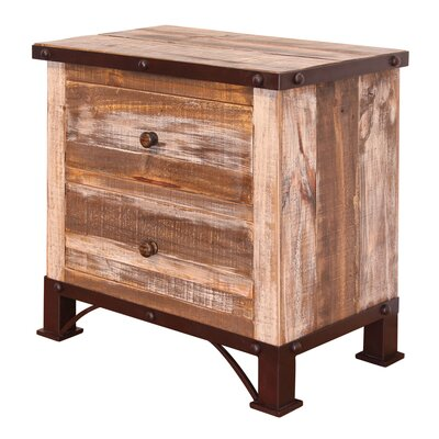 Stoneman 2 Drawer Nightstand