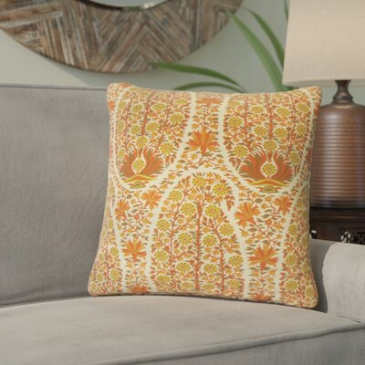 Lennie Floral Cotton Throw Pillow Color: Saffron