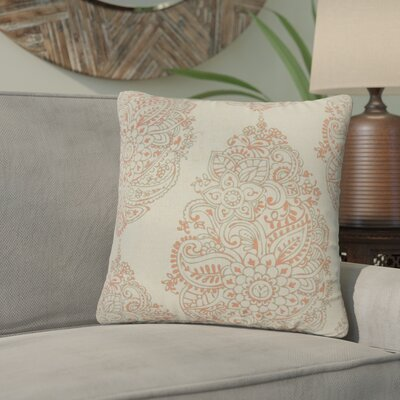Sealey Damask Cotton Throw Pillow Color: Blue Lake