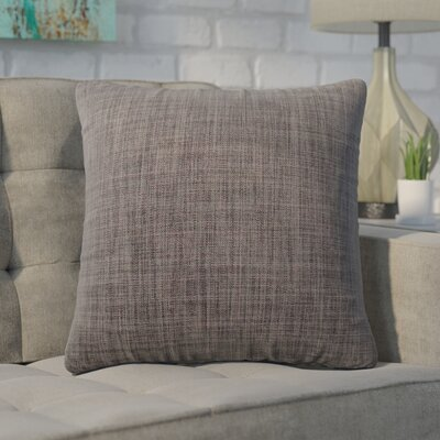 Cotter Linen Patterned Square Throw Pillow Color: Gray