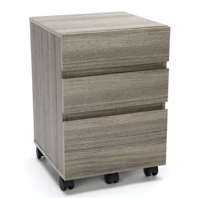 Hazley 23.25 H x 16.25 W Desk File Pedestal Finish: Driftwood