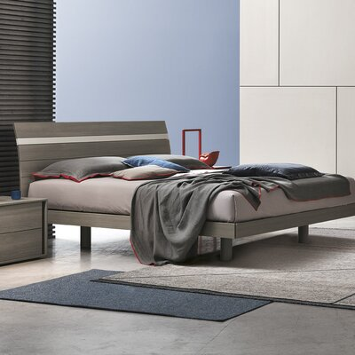 Joker Platform Bed Size: King, Color: Ash Grey