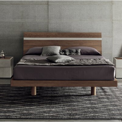 Joker Platform Bed Size: King, Color: Smoky Gray