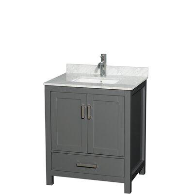 Sheffield 30 Single Bathroom Vanity Set Top Finish: White Carrara