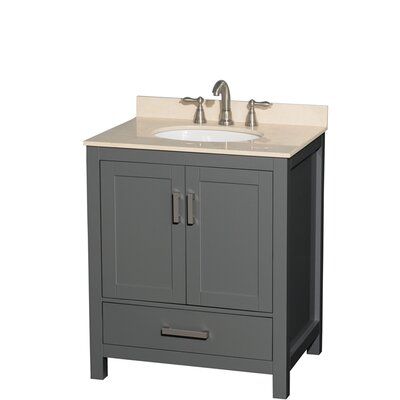 Sheffield 30 Single Bathroom Vanity Set Top Finish: Ivory