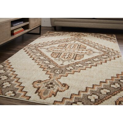 Harriman Cream Area Rug Rug Size: Rectangle 5 x 8