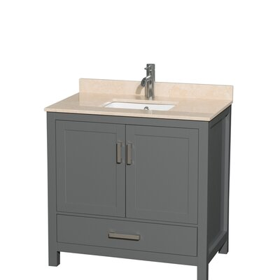 Sheffield 36 Single Bathroom Vanity Set Top Finish: Ivory
