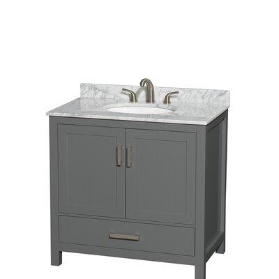 Sheffield 36 Single Bathroom Vanity Set Top Finish: White Carrara