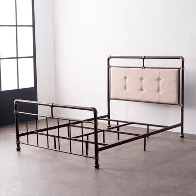 Cowgill Metal Upholstered Panel Bed Size: King