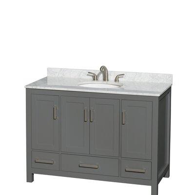 Sheffield 48 Single Bathroom Vanity Set Top Finish: White Carrara