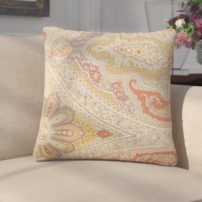 Griswalde Paisley Linen Throw Pillow