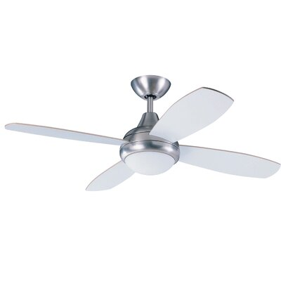 42 Hiller Ceiling Fan with Remote Finish: Satin Nickel