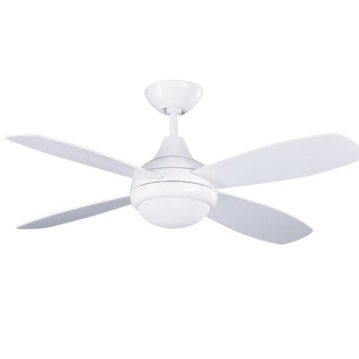 42 Hiller Ceiling Fan with Remote Finish: White
