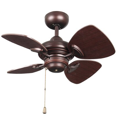 24 Van Horne 4 Blade Ceiling Fan with Remote Finish: Copper Bronze