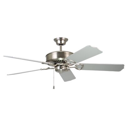 52 Upper Vobster Ceiling Fan with Remote Finish: Satin Nickel