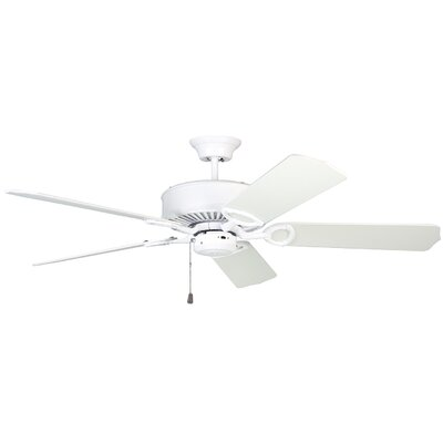 52 Upper Vobster Ceiling Fan with Remote Finish: White