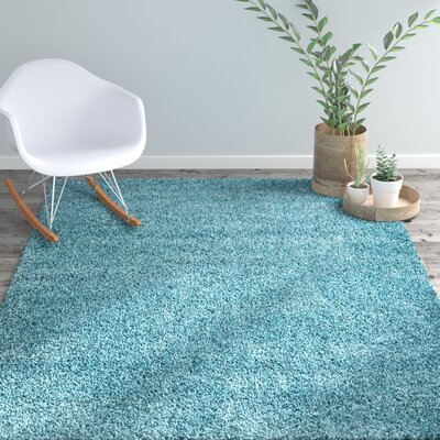 Shelley Aqua Area Rug Rug Size: Rectangle 53 x 75
