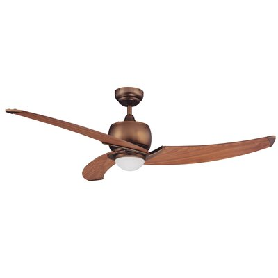 52 Hilson Ceiling Fan with Remote Motor Finish: Bronze
