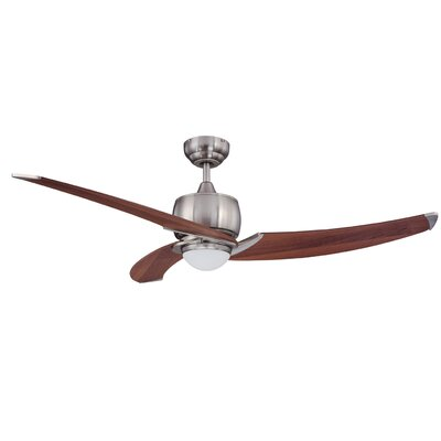 52 Hilson Ceiling Fan with Remote Motor Finish: Satin Nickel