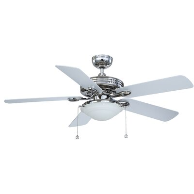 52 Petrey Ceiling Fan with Remote Finish: Polished Nickel with White Blades