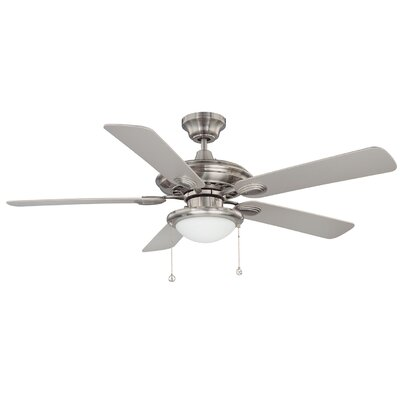 52 Petrey Ceiling Fan with Remote Finish: Satin Nickel