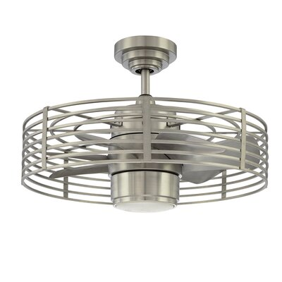 23 Himes 7 Blade Ceiling Fan Finish: Satin Nickel
