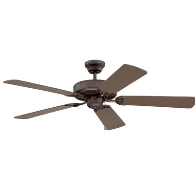 52 Petrey Ceiling Fan with Remote Finish: Oil Rubbed Bronze