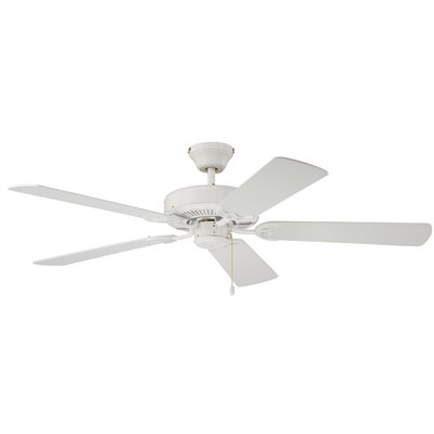 52 Petrey Ceiling Fan with Remote Finish: White