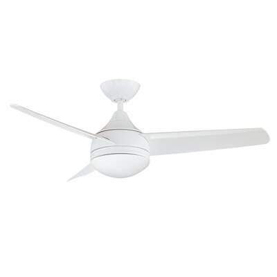 42 Hirschman 3 Blade Ceiling Fan Finish: White