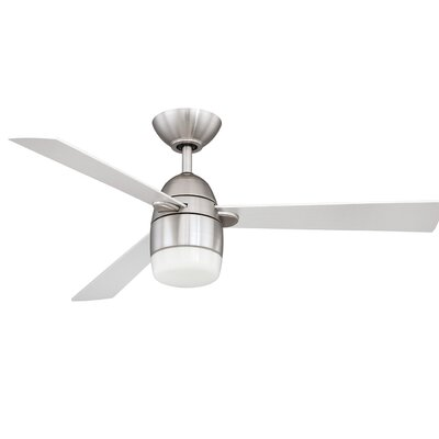 42 Mccune Ceiling Fan with Remote Finish: Satin Nickel