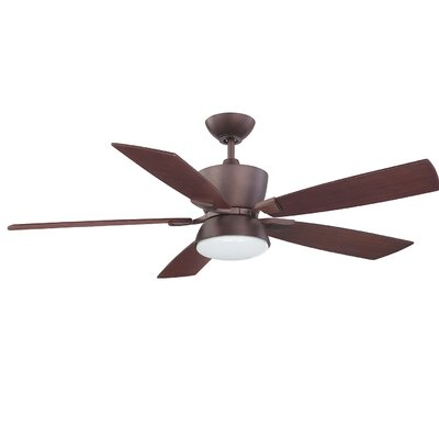 52 Hinderliter Ceiling Fan Finish: Oil Brushed Bronze