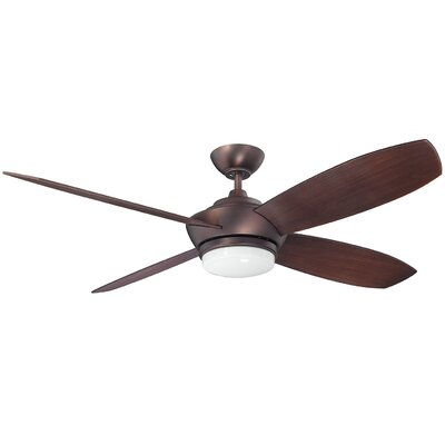 52 Himrod 4 Blade Ceiling Fan Finish: Oil Brushed Bronze