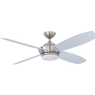 52 Himrod 4 Blade Ceiling Fan Finish: Satin Nickel