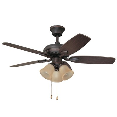 42 Paschall Ceiling Fan with Remote Finish: Copper Bronze