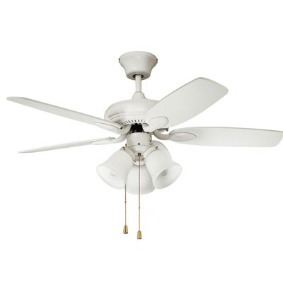 42 Paschall Ceiling Fan with Remote Finish: White